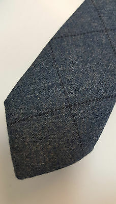 Loden Blue Tweed Tie 100% Pure Wool 4 Dressed Shirt Kilts Sporran 3