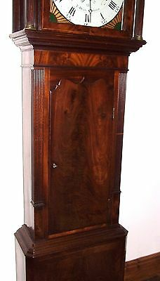 Antique Mahogany Halifax Moon Longcase Grandfather Clock by Thomas DEAN of LEIGH 8