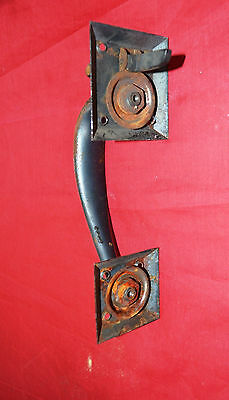Reclaimed Vintage Industrial NOS Steel Door Pull With thumb latch - As found 3