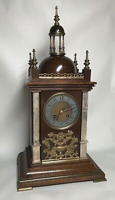 Mid to Late 19th Century Walnut & Brass Bracket Mantel Clock by Planchon. Fusee? 4