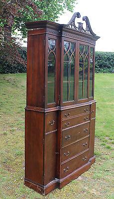 18th Century Style Mahogany Secretaire Bookcase Maddox Furniture Co Jamestown NY 8
