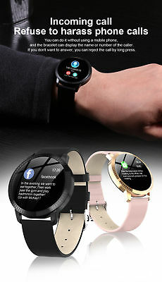 Smart Watch Fitness Tracker Heart Rate Blood Pressure Waterproof Tempered Mirror 5
