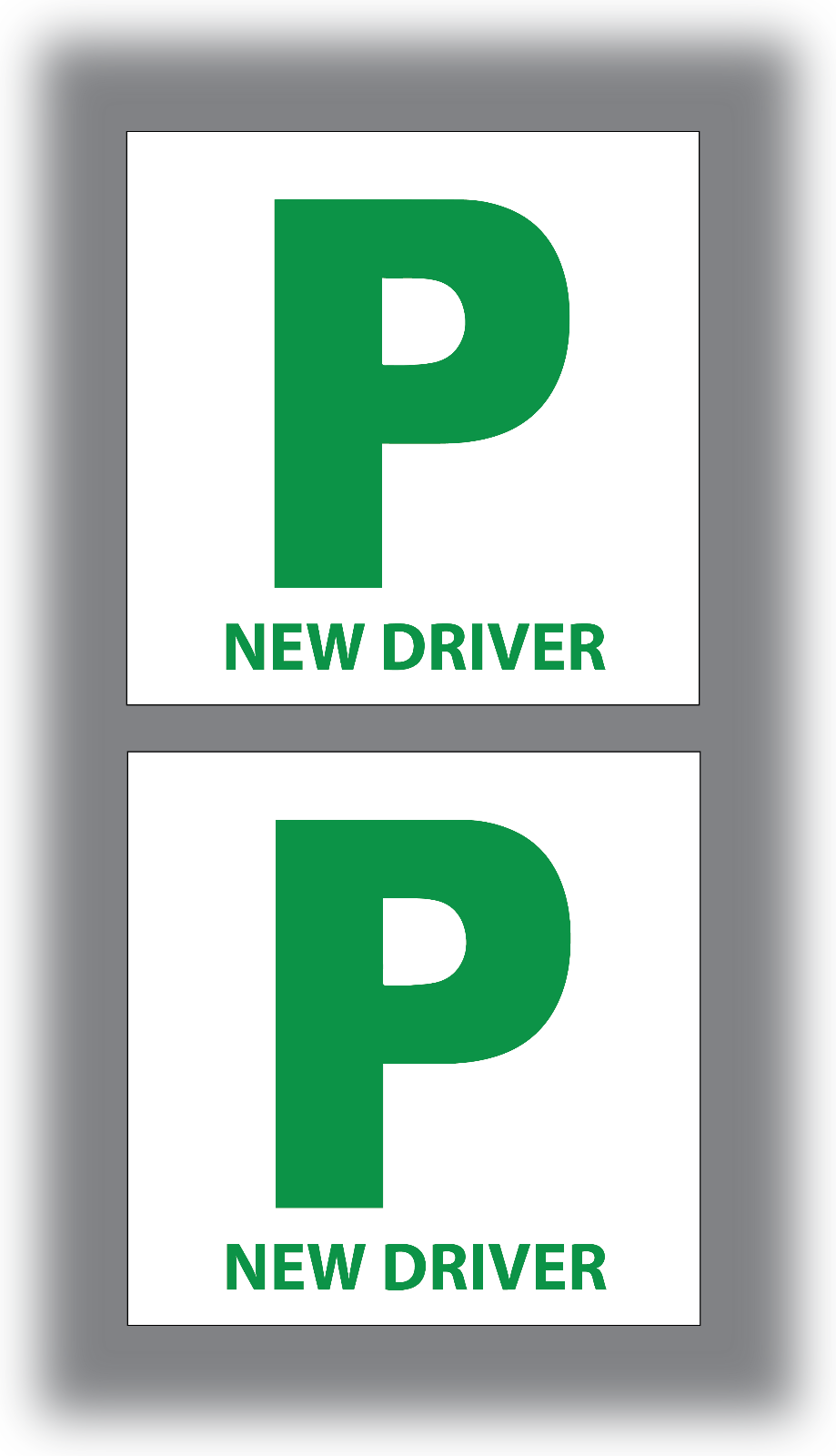 4x L and P Plates Stickers Safety Car Learner Just Passed Vinyl Legal Signs