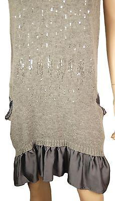 6bd0bd91 ... 1 disponible ConMiGo CB510 Glamorous Sleeveless Grey Angora Sequin  Jumper Dress with Silk Sat 3