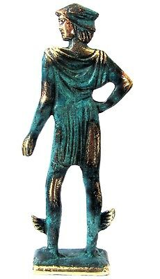 Ancient Greek Olympian God Pantheon Sculpture Statue Bronze Hermes Messenger God
