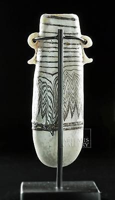 Rare Greek White Core-Form Glass Alabastron Lot 18A