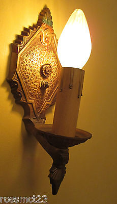 Vintage Lighting five 1930s Spanish Revival sconces by Markel 2
