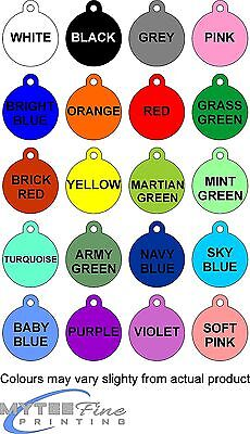 Dog Cat ID Tag If I Am Out I'm Lost Personalised Pet Tag Available in 20 Colors
