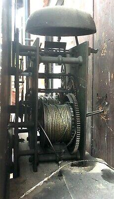 Antique Georgian Oak  Mahogany Longcase Grandfather Clock S Brill Birmingham 9