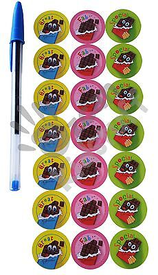 28 Scratch and Sniff Stickers Scented Kid Children Party Teacher Students Praise 4