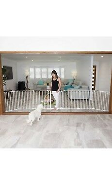 Perma Child Playpen Safety 3 in 1 Barrier Gate Up to 3.7m Long Fits 72cm - 370cm 4