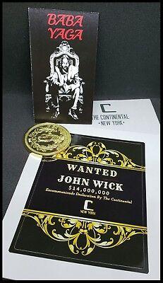 John Wick Starter Set The Continental Hotel Oath Sdcc Devil Pop Coin Sticker 11 6