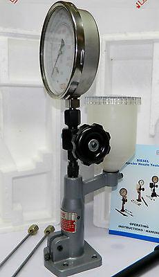 Diesel Injector Nozzle Pop Tester, 600 Bar / PSI Heavy Duty,SS Body Dual Gauge 3