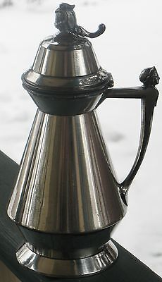 Antique Silverplated Syrup Pitcher Meriden Britannia Pat. July 1, 1873 9