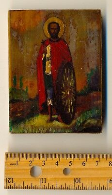 Russian  Imperial Antique Icon  Oil on Wood   (#1979) 2