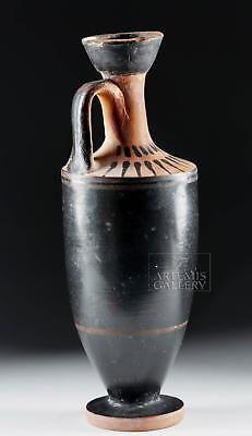 Greek Attic Black-Glazed Lekythos Lot 19