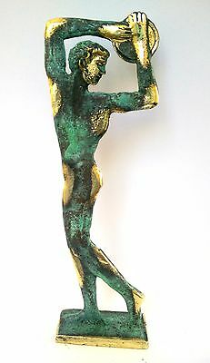 Ancient Greek Bronze Museum Statue Replica of Discus Thrower of Myron Olympics 9