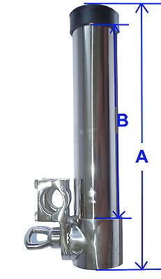 3X Porte Canne Pour Tube 22//25mm Orientable inox 316 A4 à Pèche avec Etrier