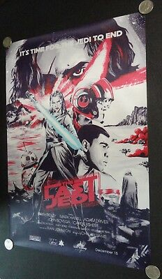 Star Wars The Last Jedi FABRIC Movie Poster Rey w/ Lightsaber Comic Art Banner 5