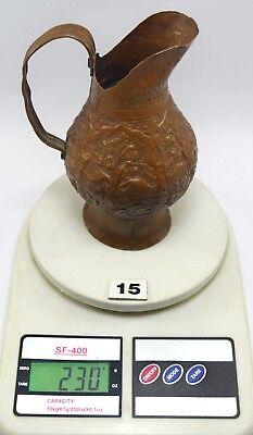 Vintage Beautiful Shape Indian Handcrafted Copper Water/Milk Jug/Vessel.G3-88 US 9