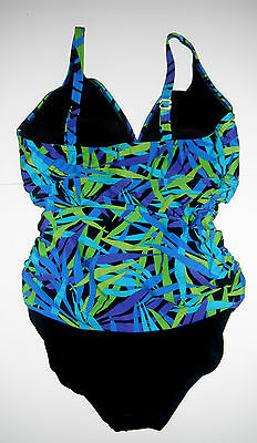 NWT Ocean Dream Signature Falling Leaves Shirred Front 1-pc Swimsuit sz 18  $121