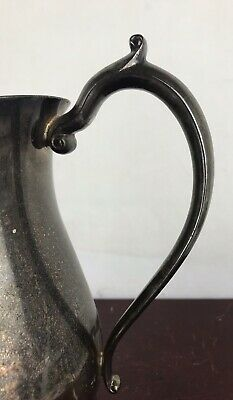 LEONARD SILVER PLATE, FOOTED WATER PITCHER w/ICE GUARD 7