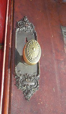 Antique Pocket door  with  beautiful brass  door knobs Architectural  Salvage 9