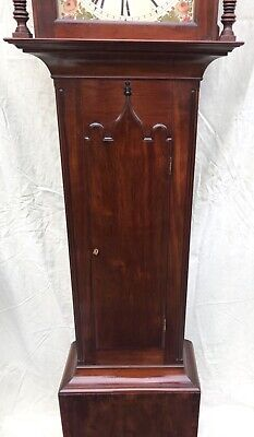 ~ Antique Mahogany ROCKING SEESAW Longcase Grandfather Clock GARMAN MEONSTOKE 7