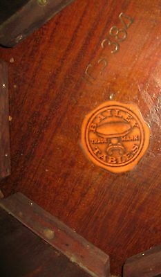 Vintage Mahogany Plant Stand Lamp Table Display Stool Round Top 6-Panel Sides 8
