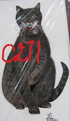 "C74  Original Acrylic Painting By Ljh   ""Minnie""   Cat 2"