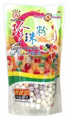 UK Seller! Wufuyuan Tapioca Pearl 250g Black and Colour for Bubble tea drink 4