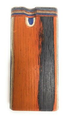 "4"" Colorful Wooden Tobacco Dugout Set with pipe Loaded (3"" Metal One Hitter) 9"