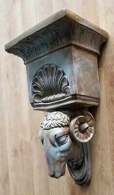 Ram Head Regency Plaster Wall Bracket Corbel Shelf 5