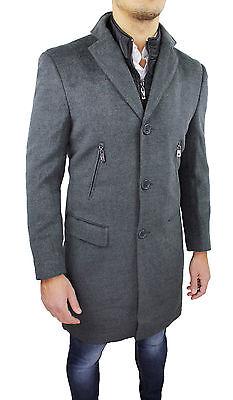 CAPPOTTO UOMO SARTORIALE grigio made in Italy invernale