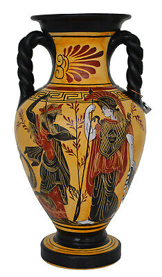 Goddess Athena and Poseidon - God Hermes the messenger of Gods Amphora Vase 2