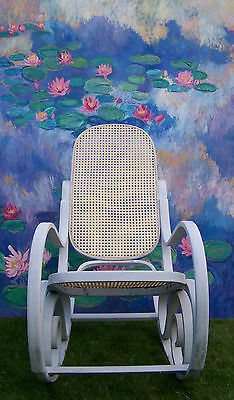 Antique French Rocking chair bergere chair nursing chair shabby chic vintage 9
