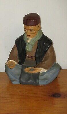 Hakata Urasaki Doll Figurine Handmade Old Man Sitting Holding Food 5