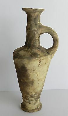 Ancient Antique Holy Land Iron Age Wine Pitcher Clay Pottery Jug Terracotta R 4
