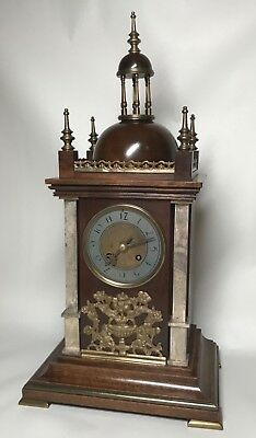 Mid to Late 19th Century Walnut & Brass Bracket Mantel Clock by Planchon. Fusee? 3