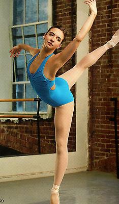 NWT Capezio HALTER LEOTARD PLEATED synergy FRONT Hibiscus #10190 DANCE BALLET