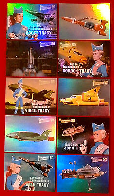 THUNDERBIRDS 50 Years - COMPLETE CHASE SET - 10 Mirror Foil Cards - 2015 2