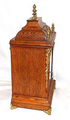# Antique Oak & Ormolu TING TANG Bracket Mantel Clock : Winterhalder W & H (a27) 8