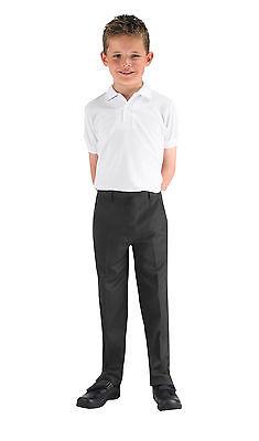 Boys Quality*-*REGULAR slim FIT SLIM LEG*Trouser*ELASTICATED waist 8-13yrs-NEW 3