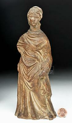 Greek Tanagra Terracotta Statue of a Woman Lot 31