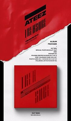 ATEEZ TREASURE EP.2 : Zero To One Album CD+P.Book+P.Card+Post+Sticker+F.Poster