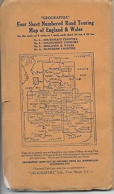 Vintage 1930 No 1 South East Counties Touring Map 2