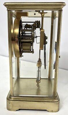 # Antique Four Glass Brass Striking Bracket Mantel Clock Brass Japy Freres 4