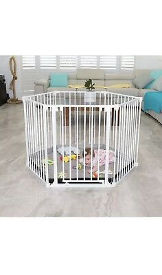 Perma Child Playpen Safety 3 in 1 Barrier Gate Up to 3.7m Long Fits 72cm - 370cm 5