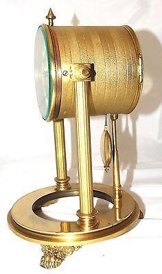 French Antique VINCENTI & CIE Drum Head Brass Striking Bracket Mantel Clock 7