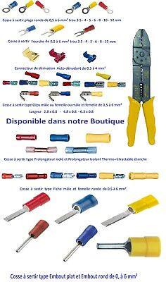 Raccord pour câble type manchon à sertir 10 - 16 - 25 mm² lot de 1-2-5-10 pièces 7